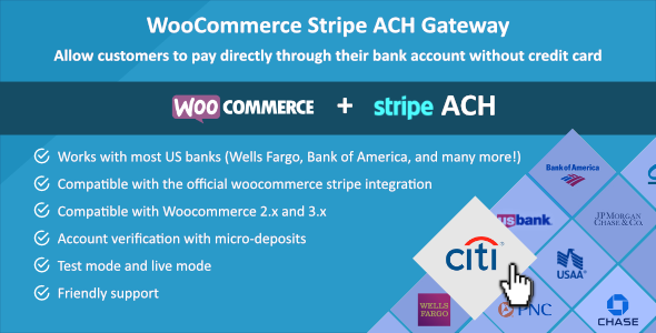 Woocommerce Stripe ACH Gateway - CodeCanyon Item for Sale