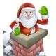 Santa Christmas Chimney Scene