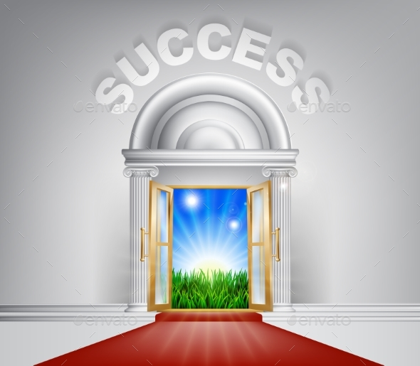 Success Door Concept - Landscapes Nature