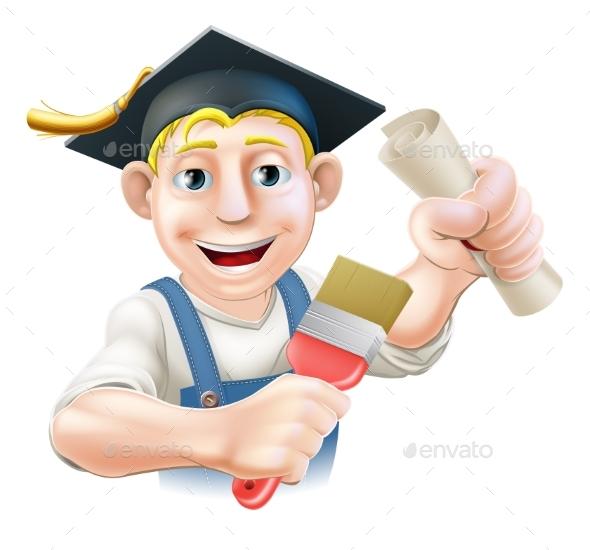 Graduate Painter Decorator - Miscellaneous Vectors