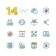 Connection - Colored Modern Single Line Icons Set. - GraphicRiver Item for Sale