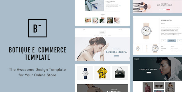 Botique - Responsive Multi-Purpose eCommerce PSD Template - Fashion Retail