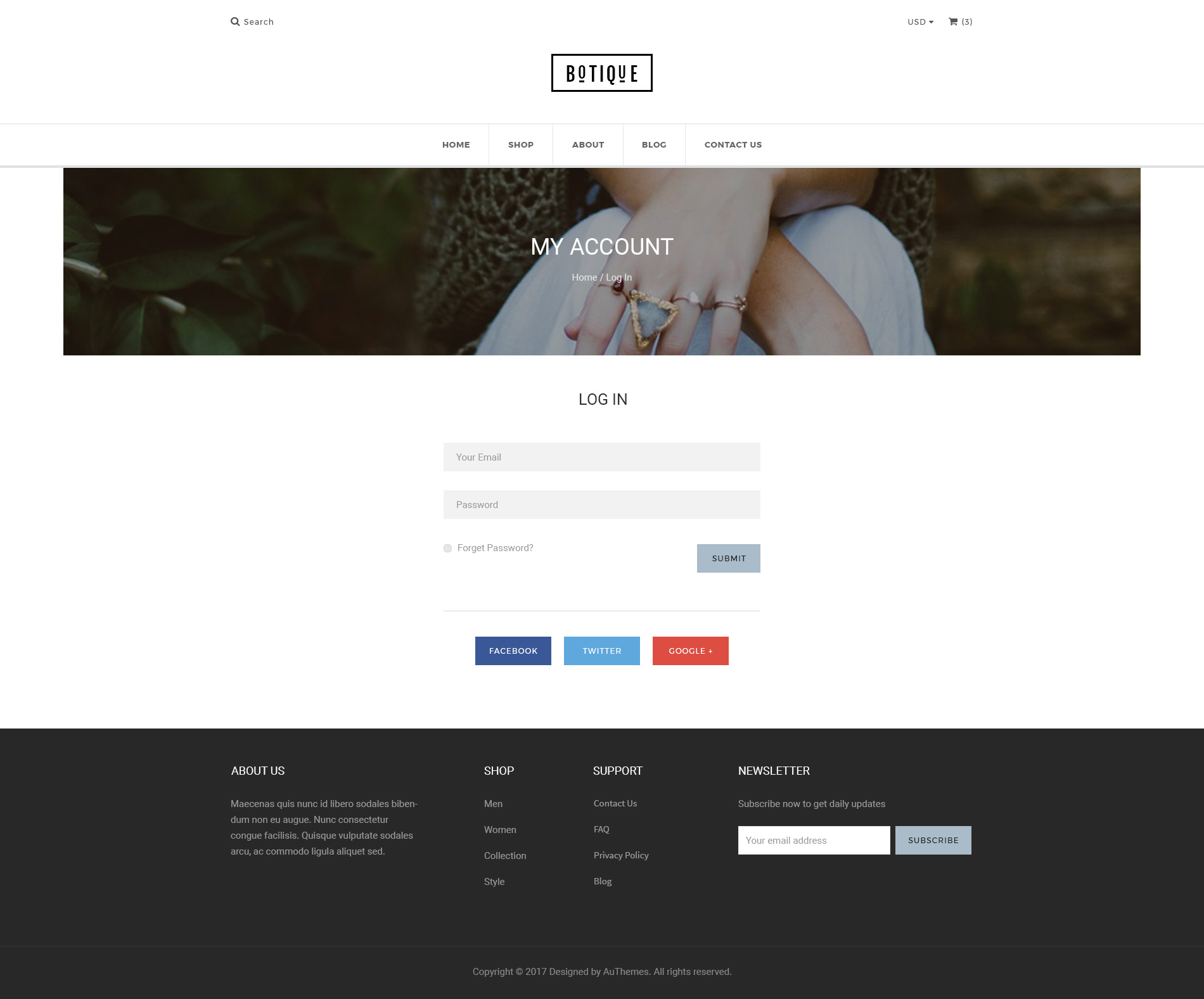 Botique Responsive Multi Purpose Ecommerce Psd Template By Authemes
