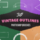 30 Vintage Ink Outlines Photoshop Brushes - GraphicRiver Item for Sale