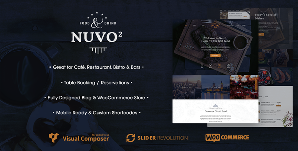 NUVO2 - Cafe & Restaurant WordPress Theme - Restaurants & Cafes Entertainment
