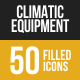 Climatic Equipment Filled Low Poly B/G Icons