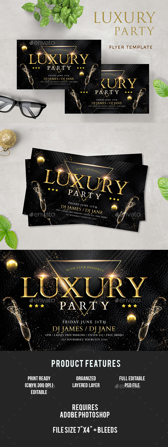 Luxury Flyer - Clubs & Parties Events
