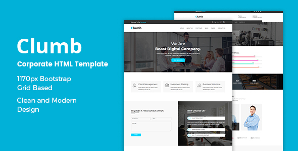 Clumb – Corporate HTML Template