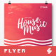 Just Play House Music - Party Flyer / Poster Template A3