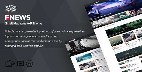 Small Magazine WP Theme - Blog / Magazine WordPress