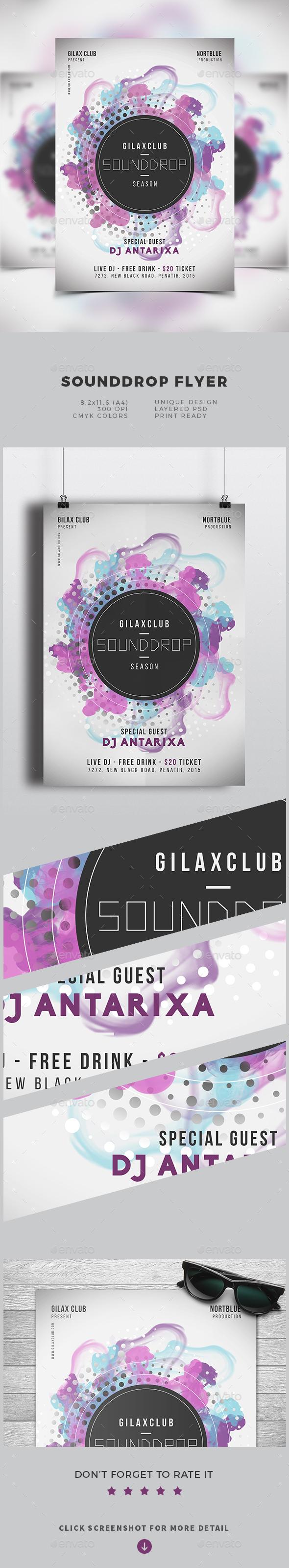 Sounddrop Flyer - Flyers Print Templates