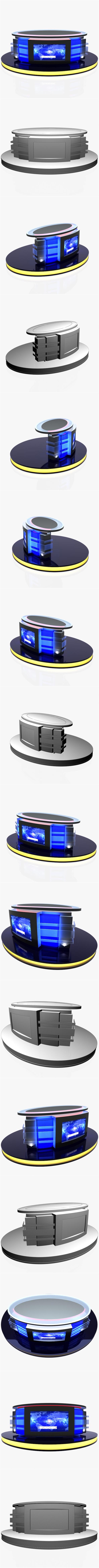 Virtual Tv Studio News Desk 12 - 3DOcean Item for Sale