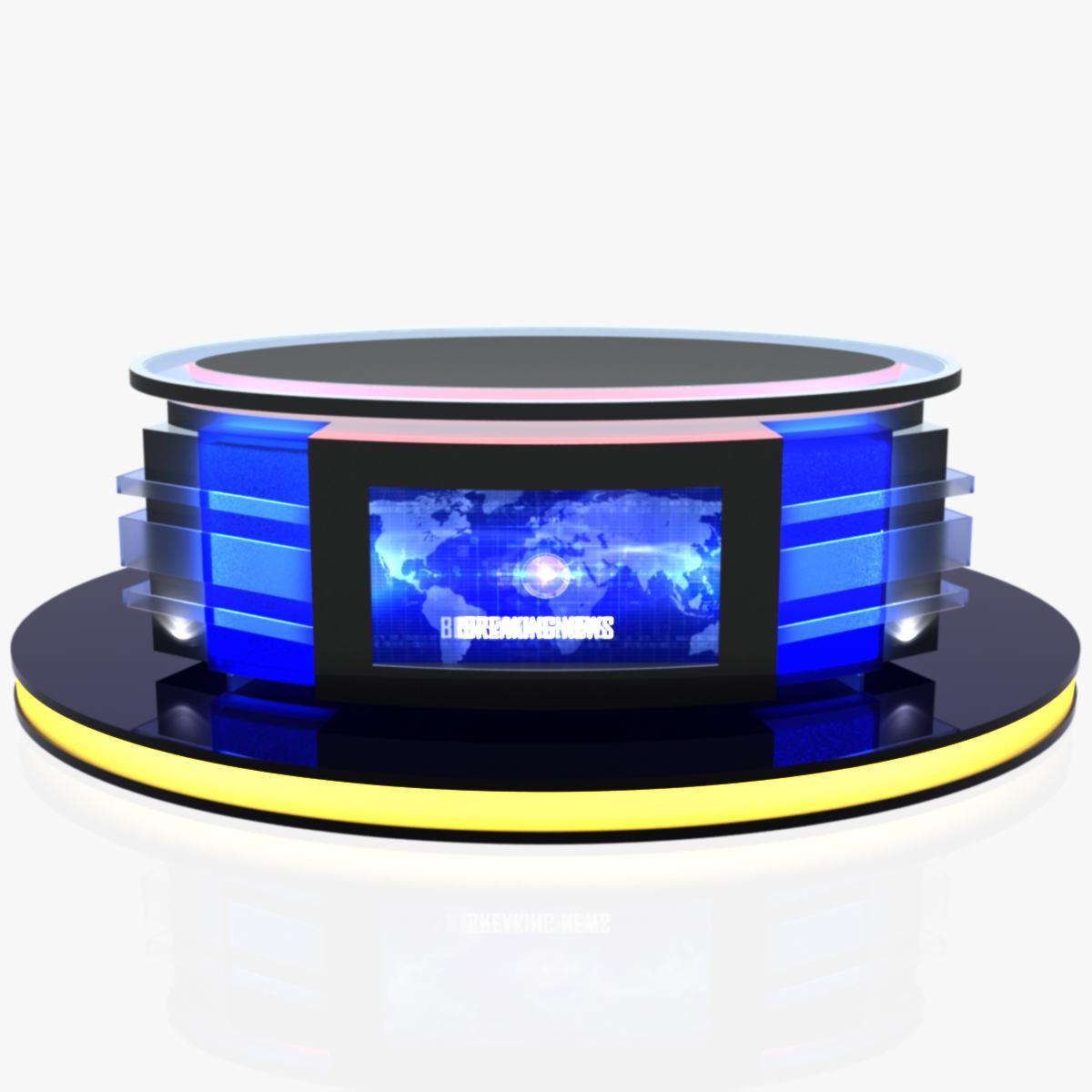 Virtual Tv Studio News Desk 12 By Canan85 3docean