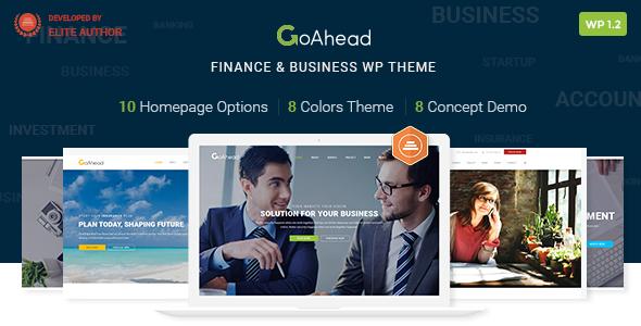 Finance WordPress Theme | Finance WP GoAhead (Finance, Accounting, Consulting, Startup)