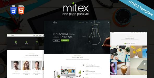 Mitex – One Page Parallax