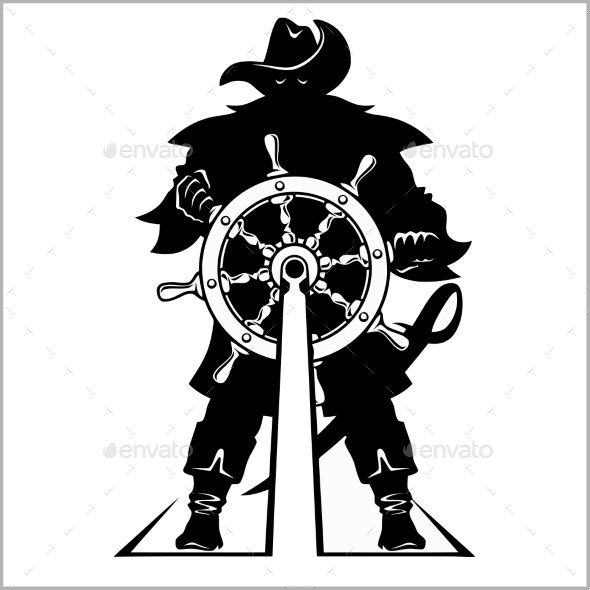 Pirate at the Helm - People Characters
