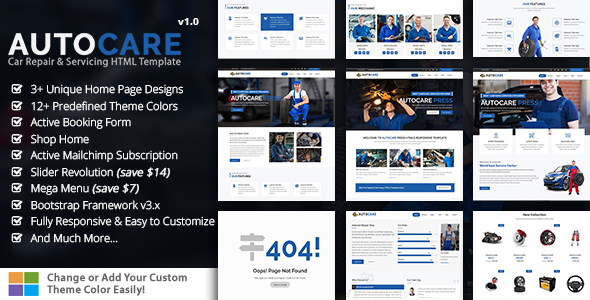 AutocarePress – Car Repair & Servicing HTML Template
