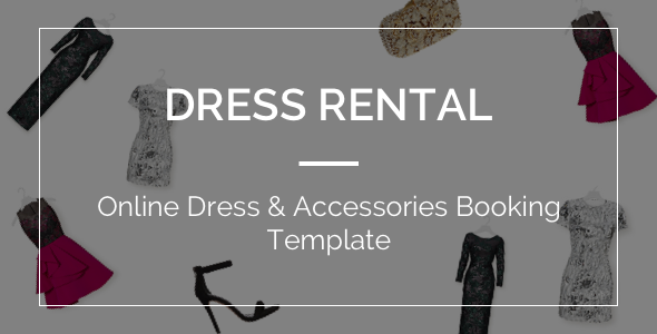 DressRental - Online Dress & Accessories Booking Template