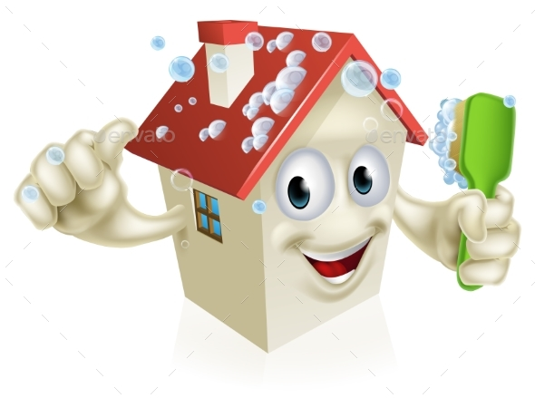 House Cleaning Mascot - Buildings Objects