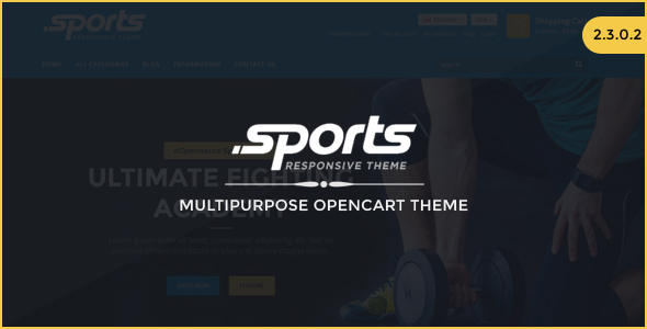 Sports – Responsive OpenCart Theme