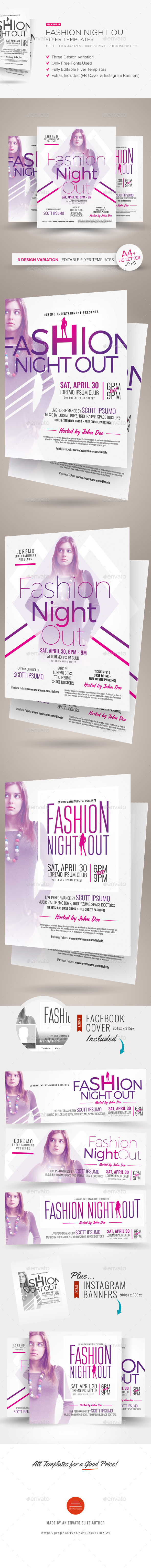 Fashion Night Out Flyer Templates - Clubs & Parties Events