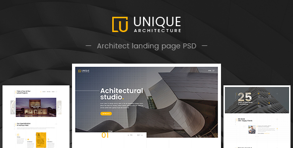Unique - Architecture & Interior PSD Template - Creative PSD Templates