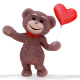Teddy Bear Heart - VideoHive Item for Sale