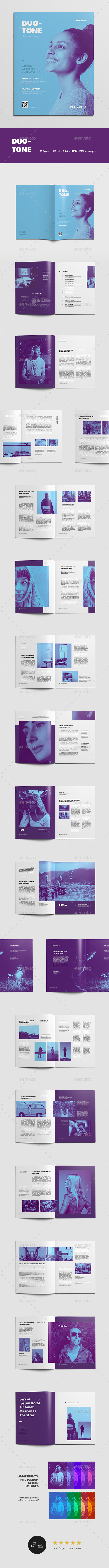 Duotone Magazine - Magazines Print Templates