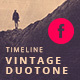Vintage Duotone Timeline Template - GraphicRiver Item for Sale