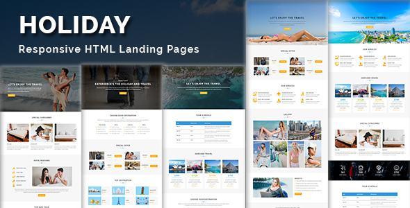 HOLIDAY – Multipurpose Responsive HTML Landing Page