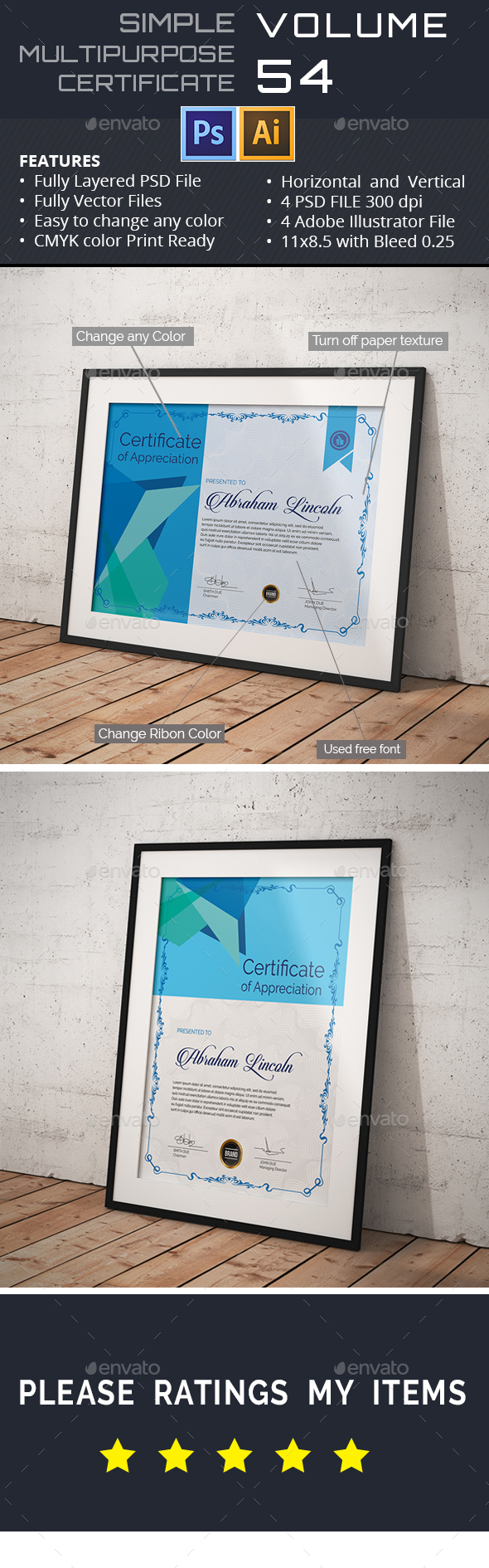 Multipurpose Certificate GD053 - Certificates Stationery