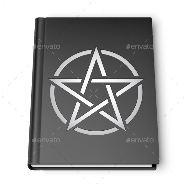 Black Book With Pentagram - Man-made Objects Objects