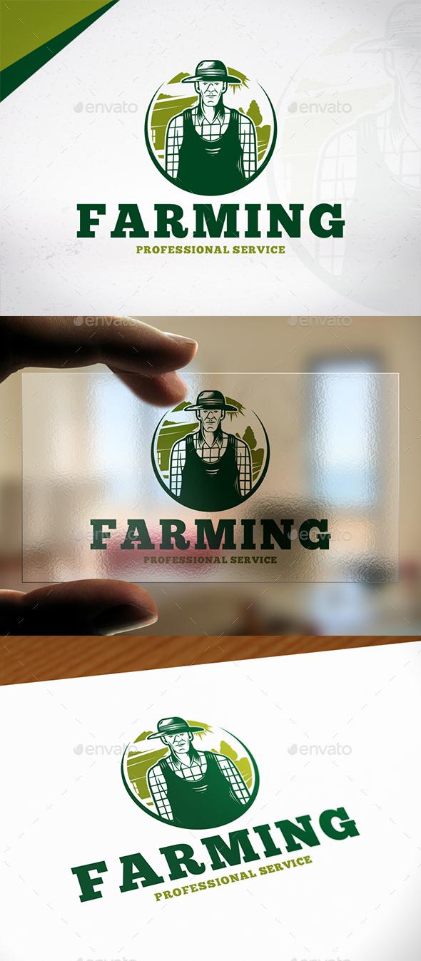 Professional Farmer Logo Template - Humans Logo Templates