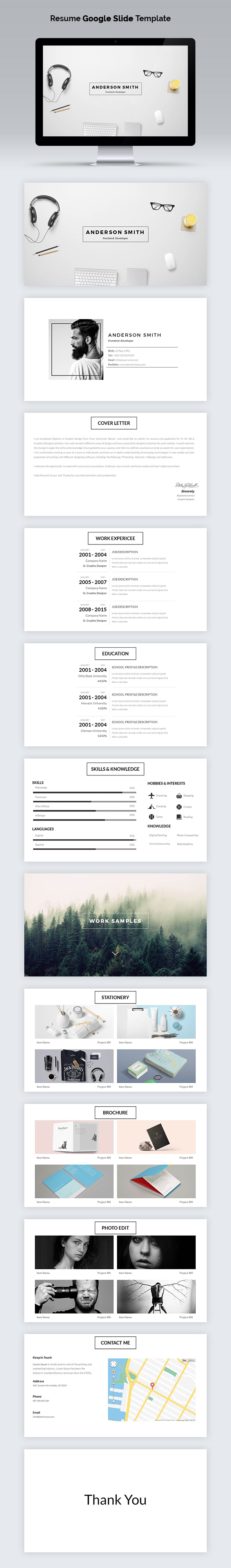 Resume Google Slide Template By Azadcsstune  Graphicriver