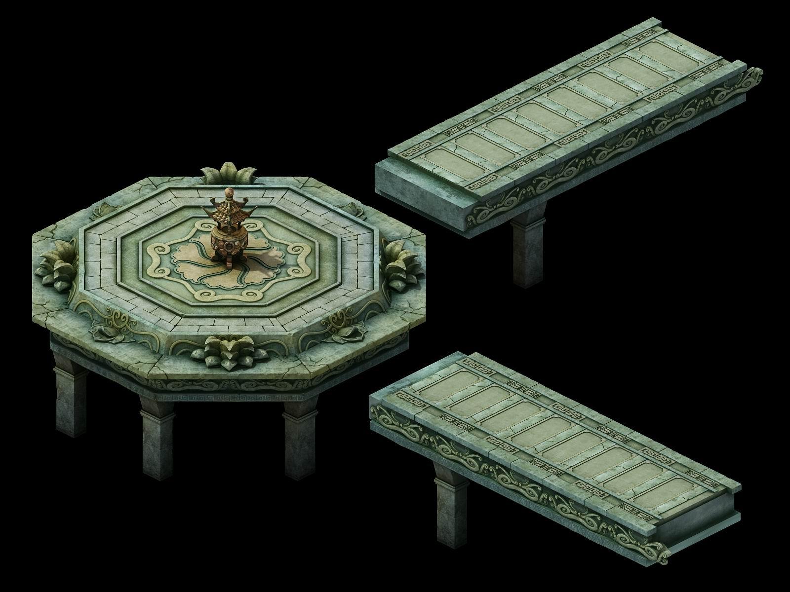 Game Model - Kashayana Buddha Forest Water Shueit 01