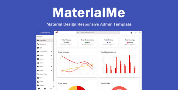 Image of MaterialMe - Material Design Admin Template