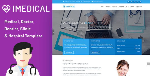 Health, Medical, Dentist, Doctor, Clinic and Hospital Template – iMedical