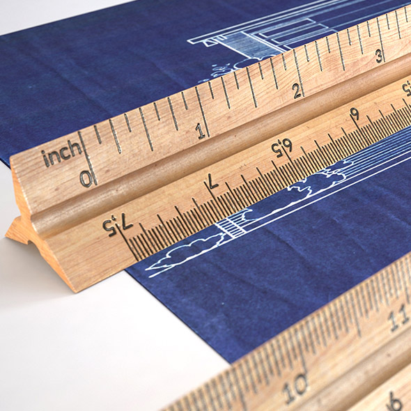 HD Wooden Ruler 6 real scale - 3DOcean Item for Sale