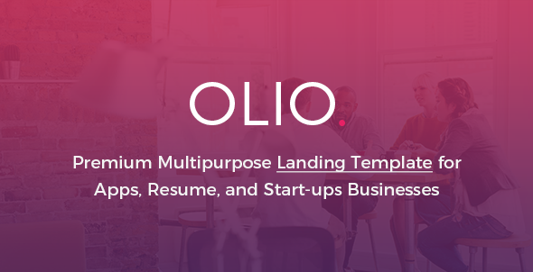 Olio – Premium Multipurpose Marketing  Landing Page