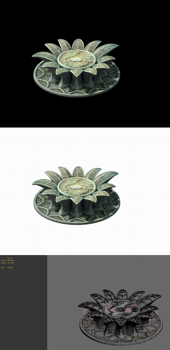 Game Model - Kapya Buddha Forest Little Lotus Block 07 - 3DOcean Item for Sale