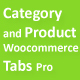 Category and Product Woocommerce Tabs Pro