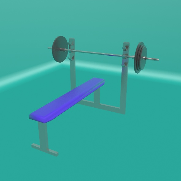 Bench Press - 3DOcean Item for Sale