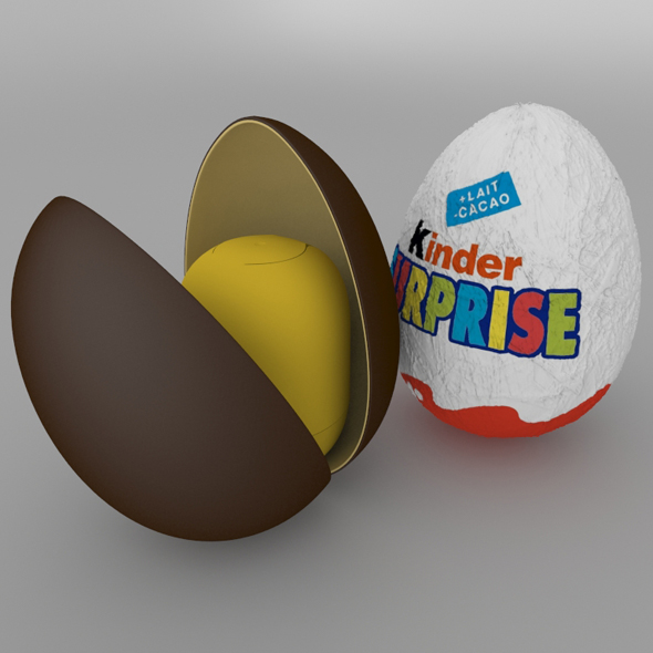 Chocolate Egg Kinder Surprise - 3DOcean Item for Sale