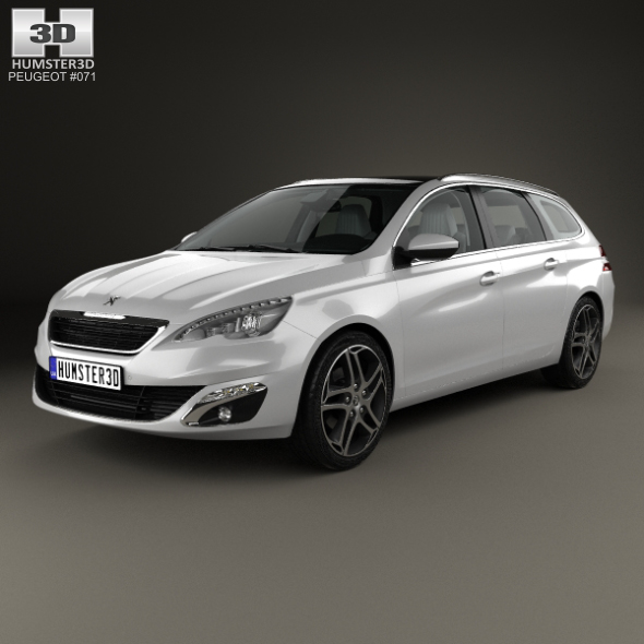 Peugeot 308 SW with HQ interior 2014