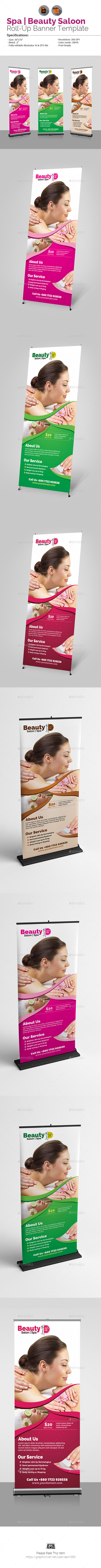 Spa & Beauty Salon Roll-Up Banner - Signage Print Templates