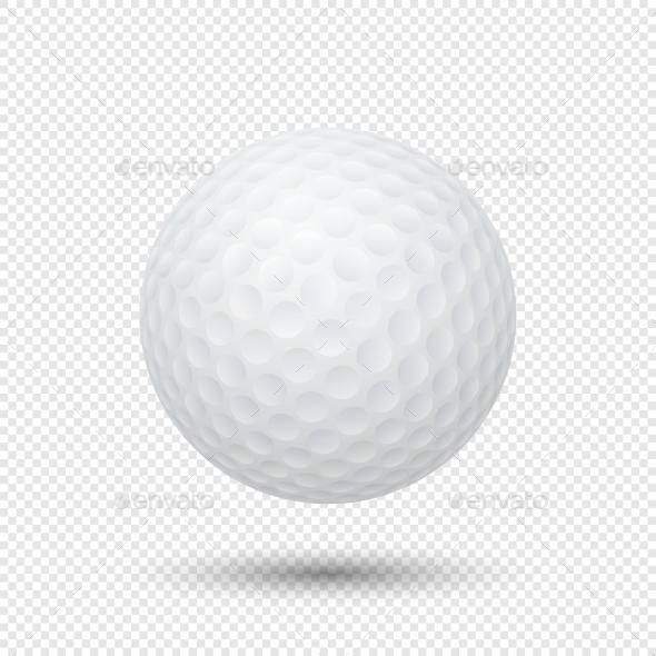 Vector Realistic Golf Ball - Sports/Activity Conceptual