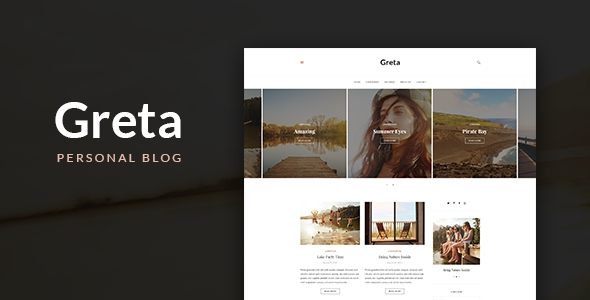 Greta - Personal Blog PSD Template - Personal PSD Templates