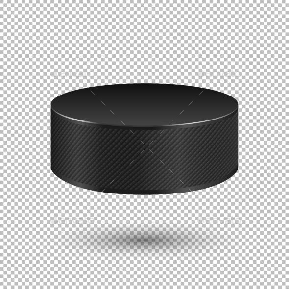 Vector Realistic Ice Hockey Puck - Sports/Activity Conceptual