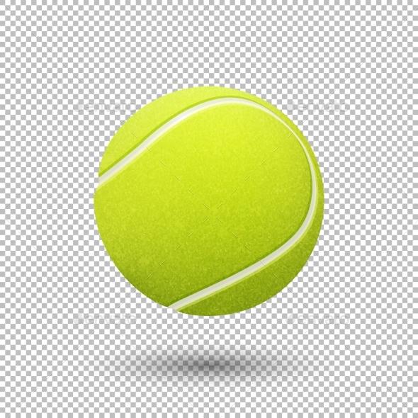 Vector Realistic Tennis Ball - Sports/Activity Conceptual