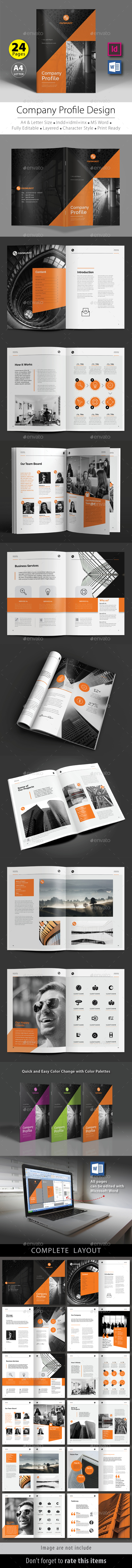 Company Profile Design Template V.5 - Corporate Brochures